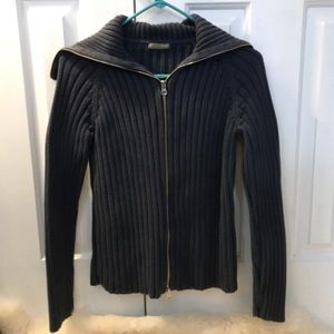 J. Crew Cable Knit Zip Up Sweater